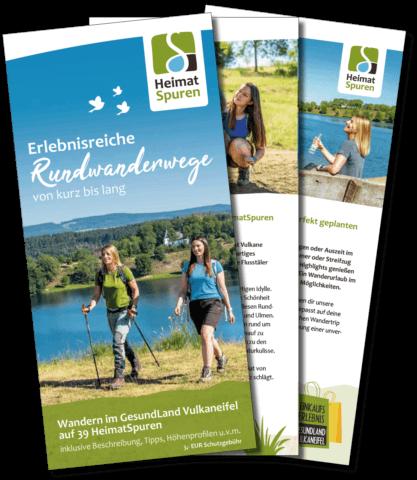 Broschüre HeimatSpuren Fächer Rundwanderwege